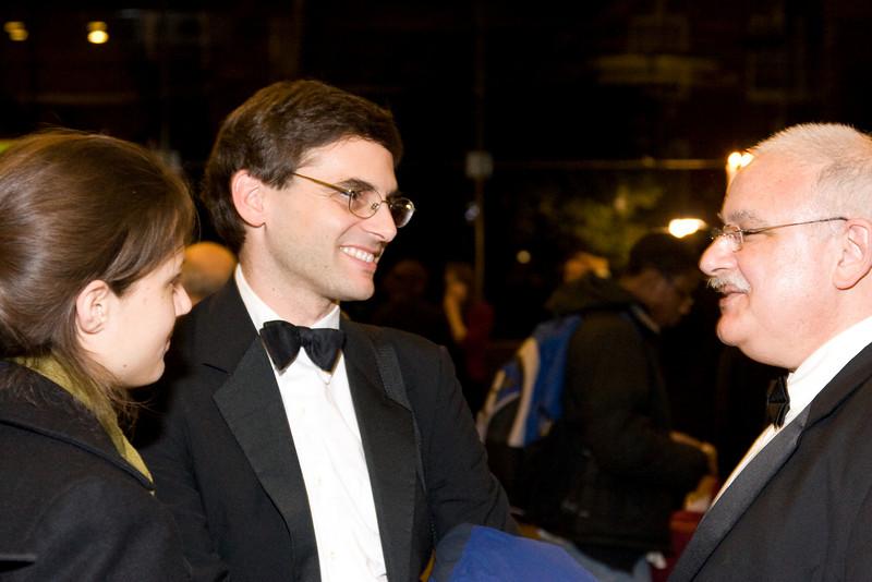 Dan Reich and Paul Harris -- HSO 25th anniversary post-concert Gala
