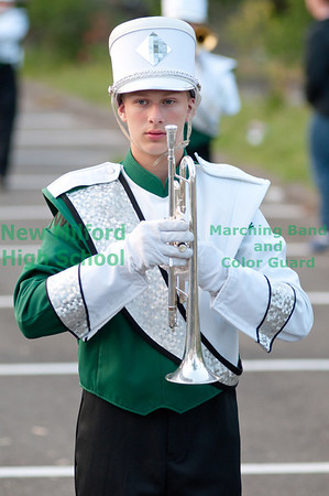 NMHS Band and Color Guard at Brien McMahon High School, September 17, 2011