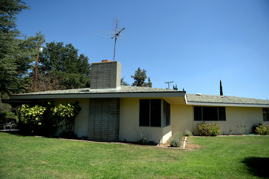 . An exterior view at the home of Redlands resident Nathan Gonzales on Thursday, July 10, 2014 in Redlands, Ca. Gonzales\' home was added to the city�s historic register list and is the second post-World War II era building added to it. (Photo by Micah Escamilla/Redlands Daily Facts)