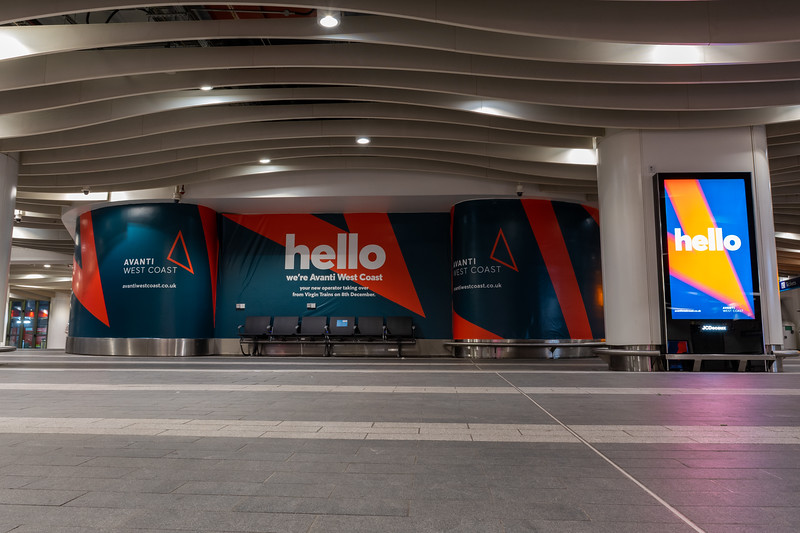 Hello, we're Avanti West Coast! - Advertising at Birmingham New Street