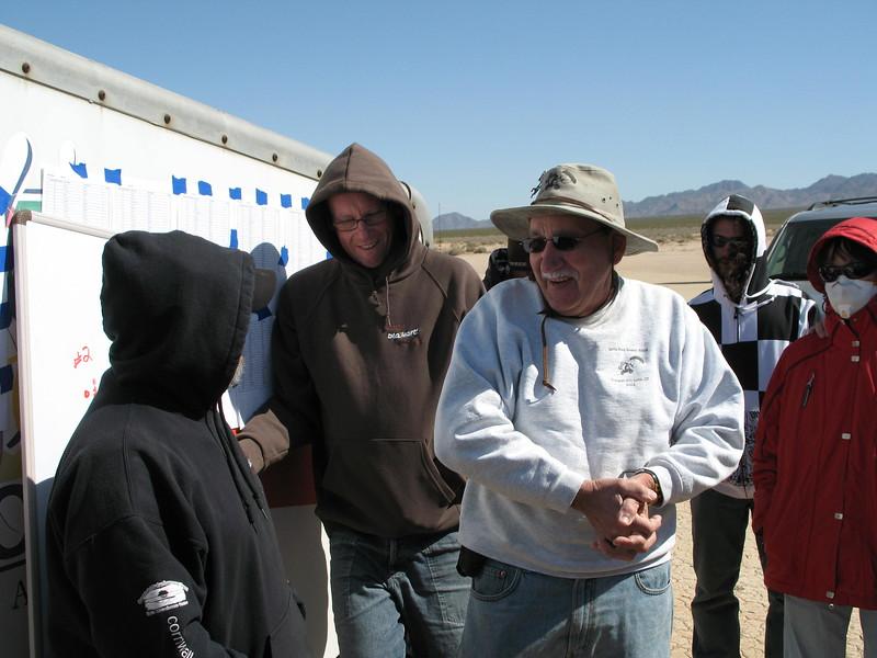 Fran, John and Mike plan the next race
