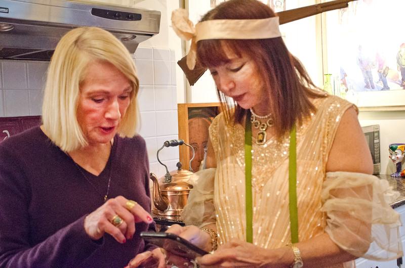 Birthday party at Robert Flynn Johnson - Sheila Ash on right