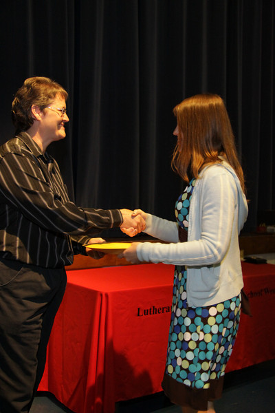 Awards Night 2012 - Student of the Year: Pre-Calculus
