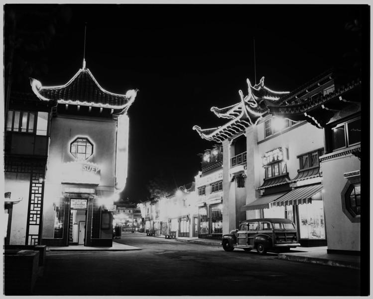 1950s, Plaza at Night