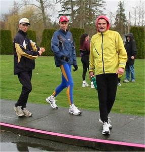 2003 Comox Valley Half Marathon - Dave Matte, Neil Holm and Darren Skuja