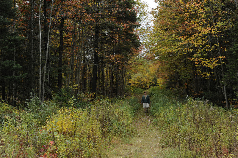 Steve hiking the Pine Valley trail