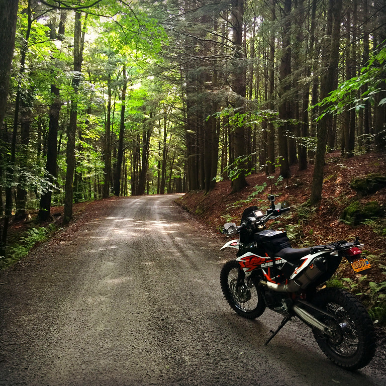 Fuzzygalore Riding KTM 690 Enduro Dirt Road - Hancock, NY