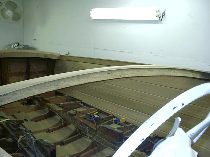 Rear view of port cockpit liner.