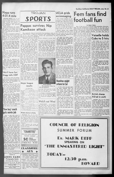 Daily Trojan, Vol. 36, No. 159, July 18, 1945