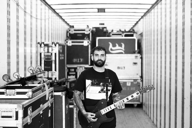 Tony Pizzuti Backstage on Vans Warped Tour 2016