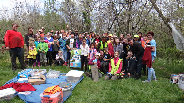 4.23.16 Herbert Run Watershed/Stream Cleanup in Ingleside community in Catonsville