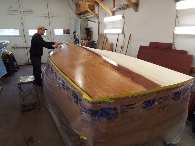 Another view of the epoxy being applied.