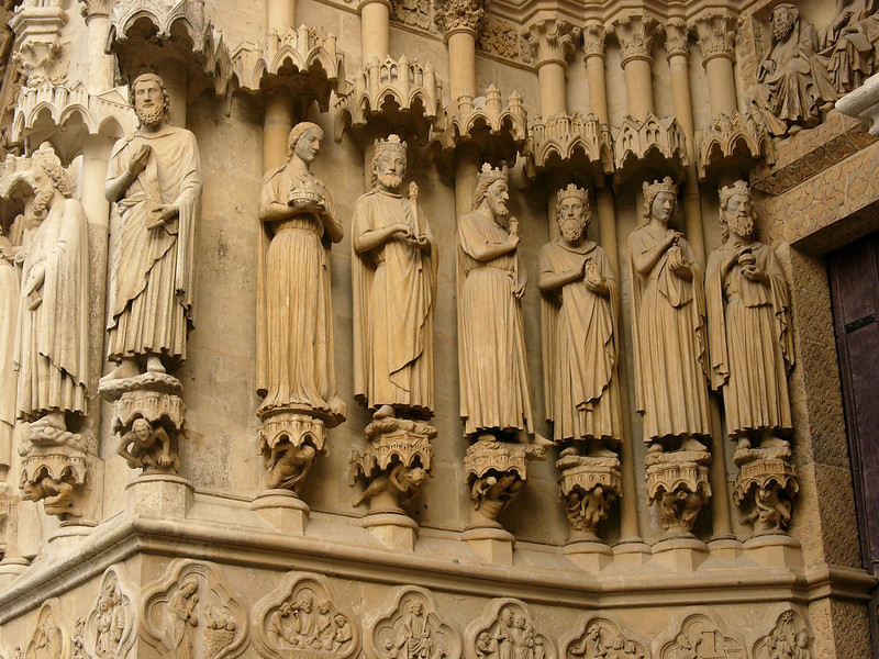 Amiens Cathedral West Facade Kings
