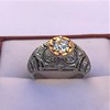 0.94ctw Vintage Old European Cut Diamond Dome Ring, Center OEC (GIA .59ct G SI2) 16