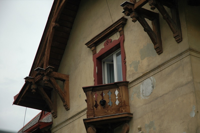 Dog on the Balcony - Prague, Czech Republic