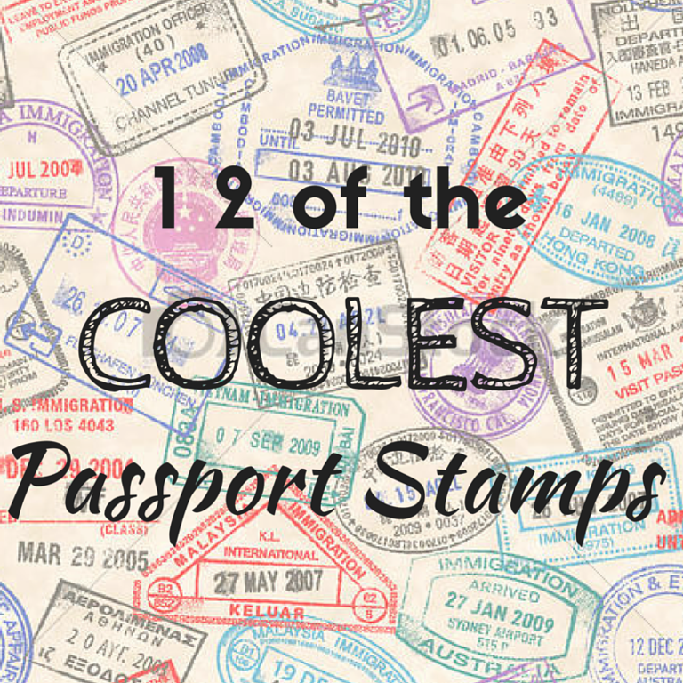 12 of the coolest passport stamps