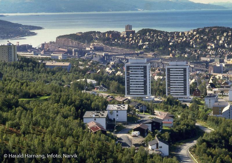 Narvik fotografert fra minikraftverket inn mot Tøttadalen.
