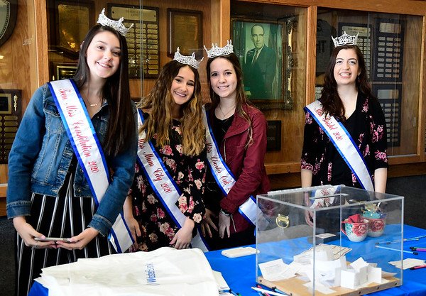 3/7/2020 Mike Orazzi | Staff Teen Miss Constitution 2020 Allie Masto, Teen Miss Mum City 2020 Autumn Schless, Teen Miss Charter Oak 2020 Sofia Circosta and Miss Bristol 2020 Jaymie Bianca during The Central Connecticut Chambers of Commerce's Family Health and Wellness Expo held at Bristol Eastern High School on Saturday.