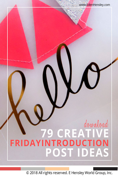 Download 79 Creative #FridayIntroduction Post Ideas