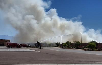 Mulch Fire at Phoenix TA 4-17-2016