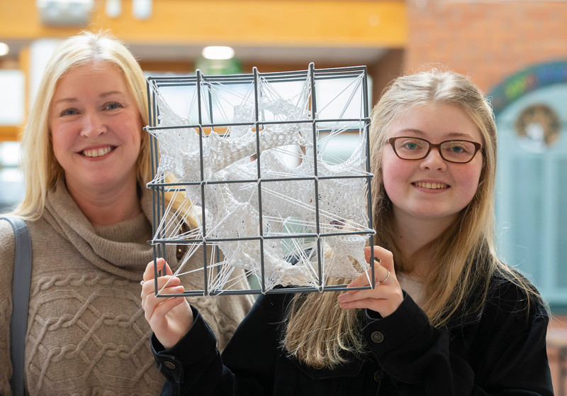 30/03/2019. FREE TO USE IMAGE. Thousands of CAO, part-time and postgraduate applicants visited WIT's Spring open events on Friday evening and Saturday morning. WIT is Ireland's top ranked institute of technology. Pictured are Michele and Hannah Walsh from Waterford city . Picture: Patrick Browne