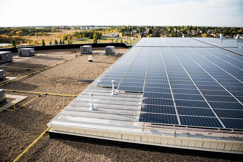 Leduc Recreation Centre Solar Panel Roof Installation