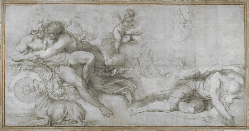Cephalus carried off by Aurora in her Chariot