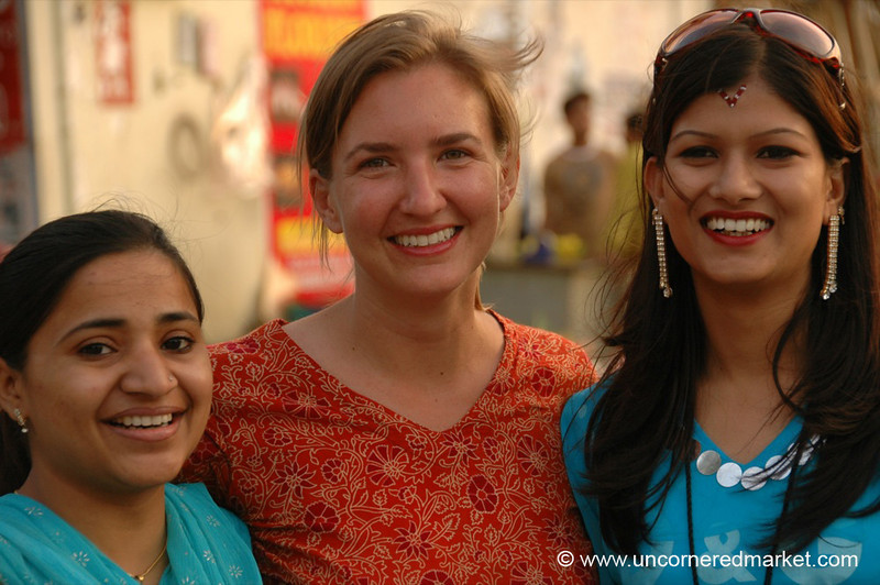 Audrey with New Friends in Chandigarh, India