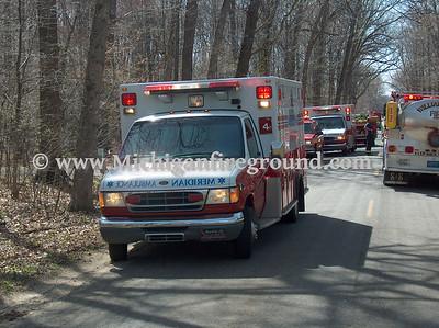 4/18/06 - Meridian Twp house fire, 375 Newman Rd