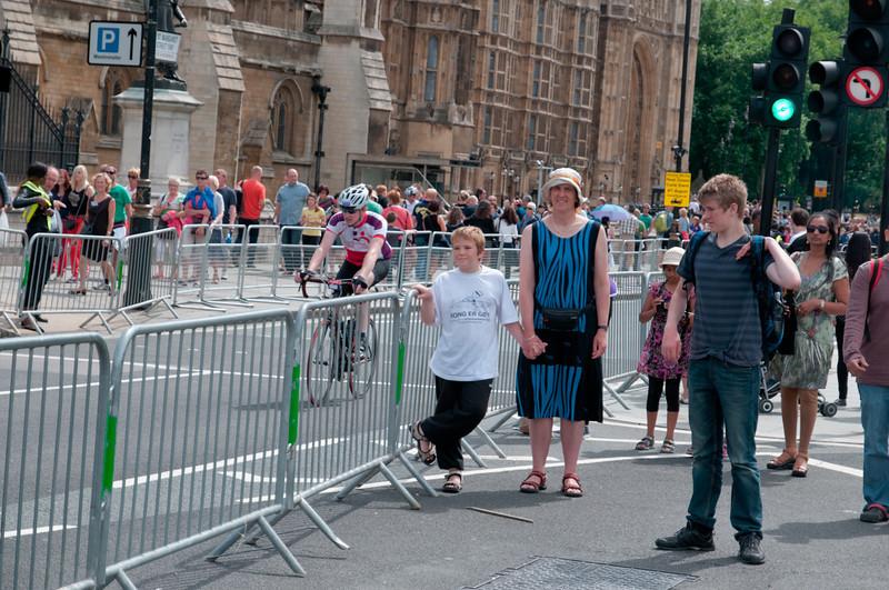 Heute war auch ein Radrennen in der Stadt.