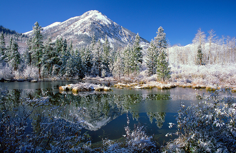 (A083)  Early snow in the Collegiate Peaks; Sawatch Range
