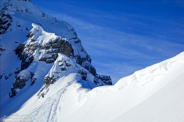 Gamsfuss ski tour, Kleinwalsertal 2014-01-29