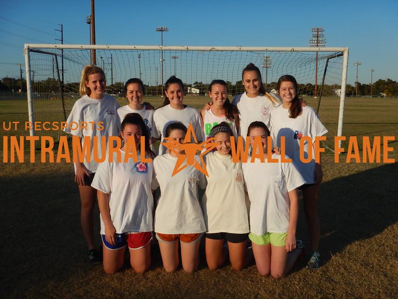 Fall 2015 Soccer Women's Runner Up Chi O