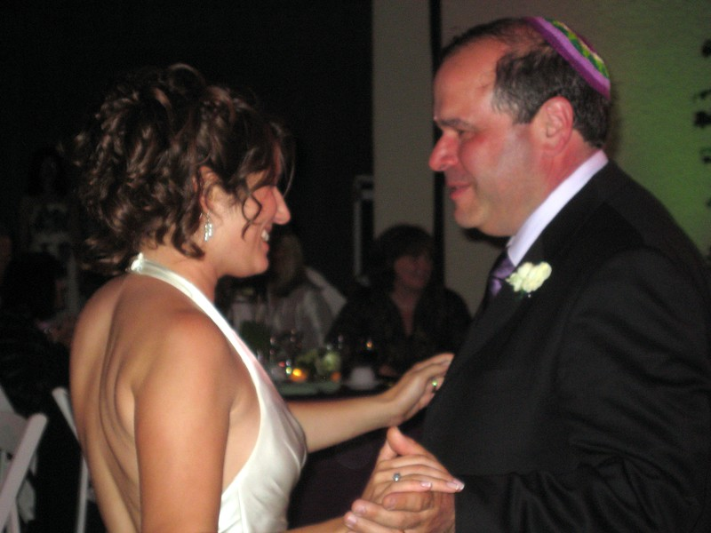 Abby dances with Gary (father of the bride)