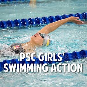 PSC Girls Swimming Action