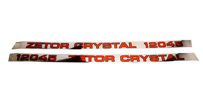 ZETOR CRYSTAL 12045 SERIES BONNET DECAL SET