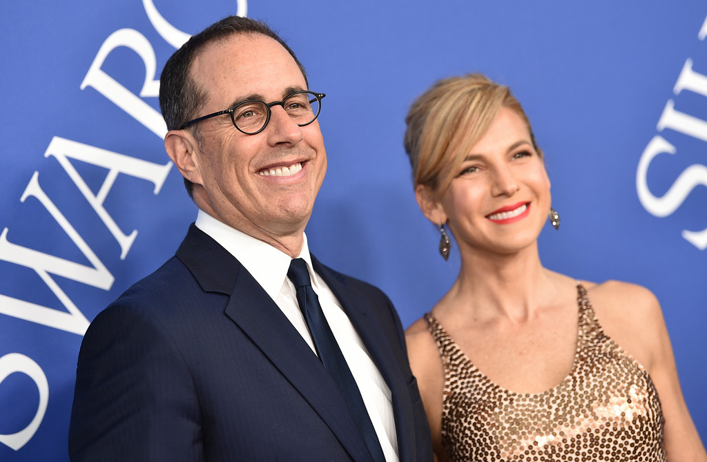 . Jerry Seinfeld, left, and Jessica Seinfeld arrive at the CFDA Fashion Awards at the Brooklyn Museum on Monday, June 4, 2018, in New York. (Photo by Evan Agostini/Invision/AP)