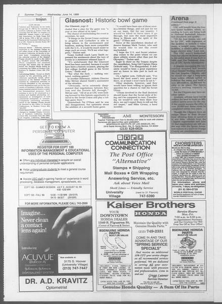 Summer Trojan, Vol. 109, No. 5, June 14, 1989