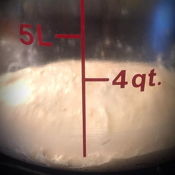 Super Bowl pizza dough rising