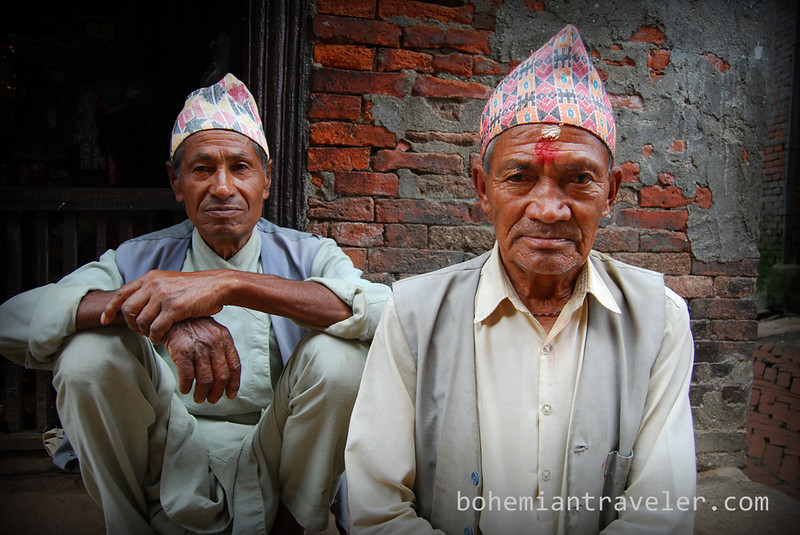 Men in Bhaktapur.