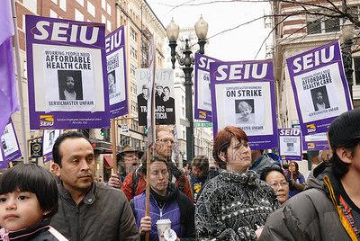 Union Bank of California Janitors Strike, Feb. 22, 2007