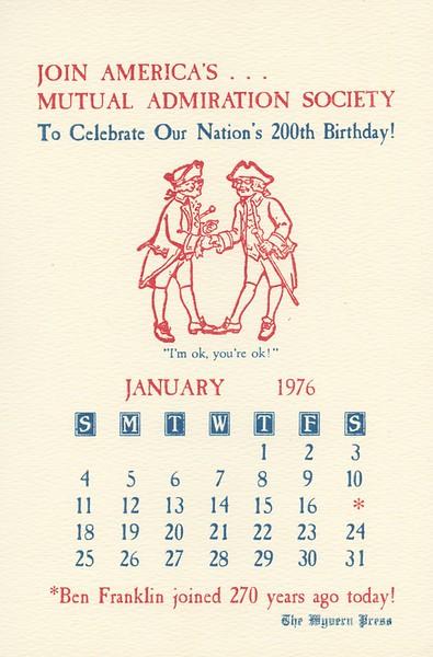 January, 1976, Wyvern Press