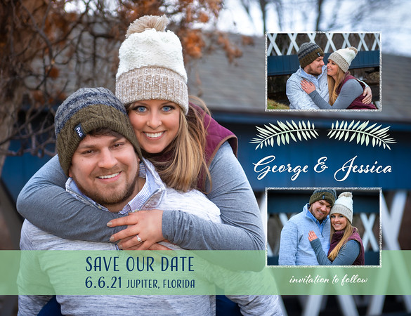 George and Jessica Save the Dates