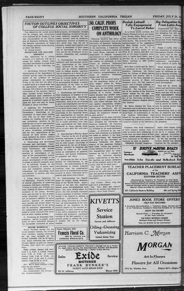 Southern California Trojan, Vol. 9, No. 8, July 25, 1930