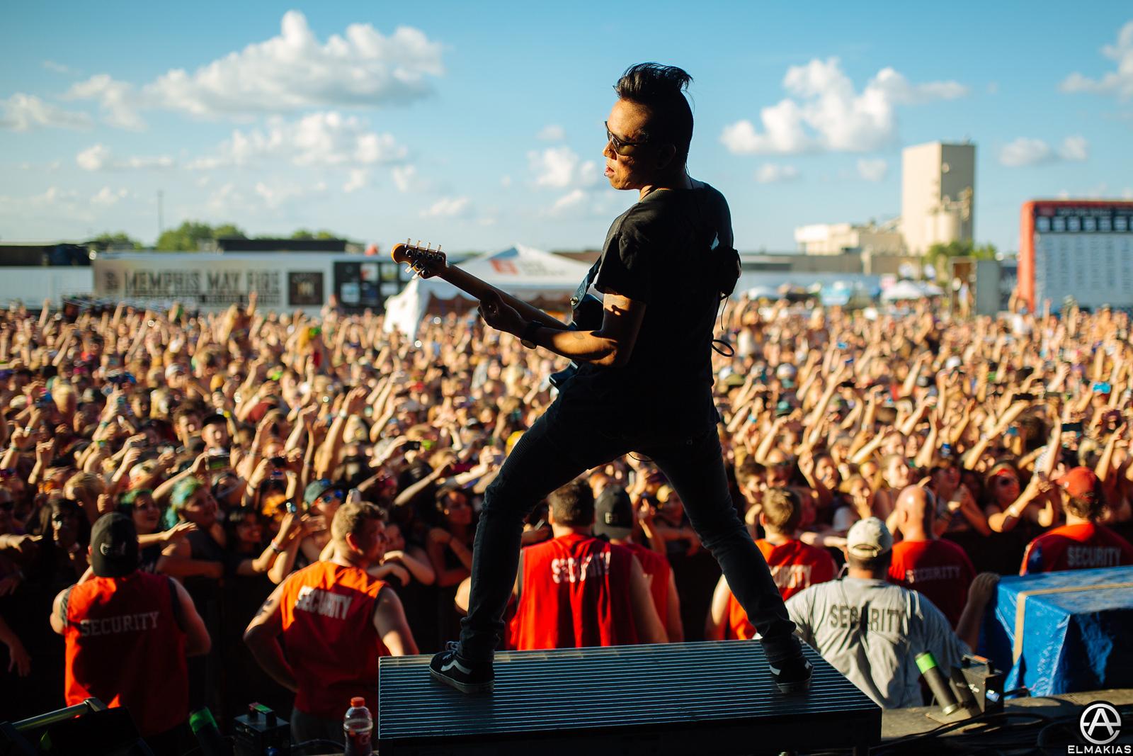 Jesse Barrera live with Pierce the Veil at Warped Tour 2015 by Adam Elmakias