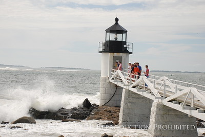 Marshall Point Light and Waves