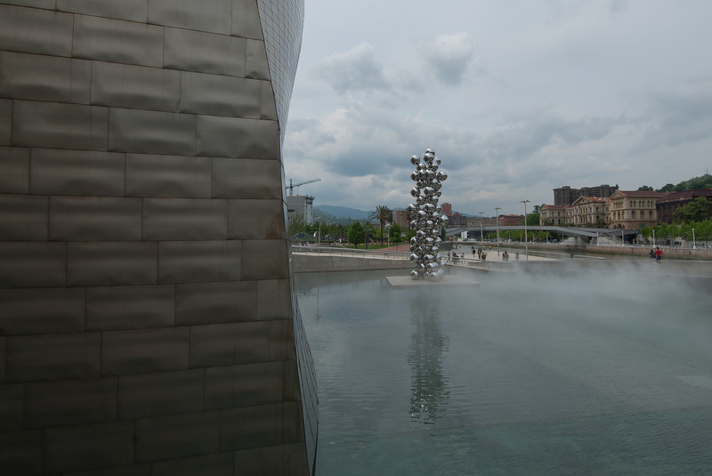 View outside Guggenheim Museum in Bilbao, Spain