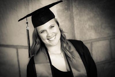 Caylee SDSU Grad Portraits (B&W) 5-2-2020