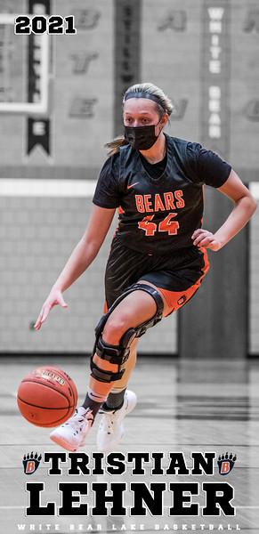 Girls Basketball Senior Posters 2021