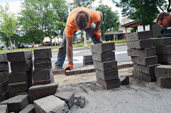 Downtown Bennington sidewalk work 062620